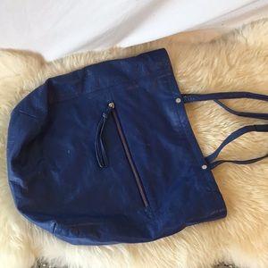 Calvin Klein Blue Leather Tote